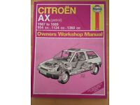 Citroen AX Haynes Manual ( petrol ) ( hard back )