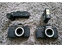 Chinon CM-3 Cameras with Extras