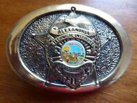 Solid Brass Belt Buckle - Alexandria Technical Institute - NEW