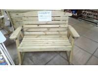 Wooden Garden Rocking Bench