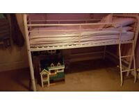 Mid sleeper metal single bed