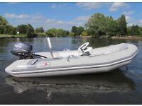 2009 5 man Hypalon Avon 340 Rigid inflatable boat RIB just serviced + brand new trailer