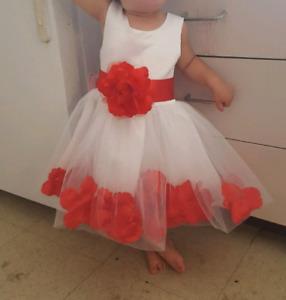 2x matching Flower Girl dresses