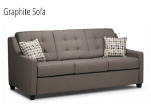 Sleek modern condo sized couch