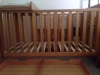 mothercare cot and bed(free changing mat)