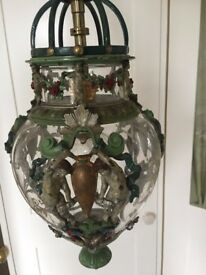 an antique ceiling lantern French