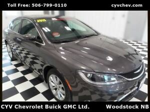 2015 Chrysler 200 C - 3.6L V6, Heated Leather, Sunroof & Rear Ca