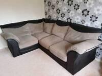 Corner Sofa and foot storage stall