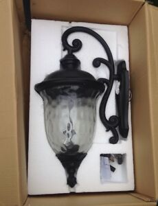 """Two Maxim 31"""" Outdoor Wall Sconces"""
