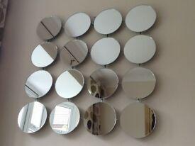 Wall 16 disc multi mirror.
