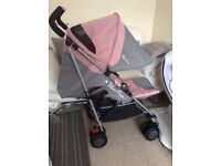 Silver cross pop 2 pushchair buggy vintage pink used 2 weeks only for holiday