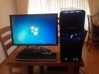 Dell XPS 630i PC with monitor, speakers, sub-woofer & keybord