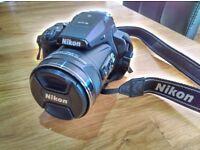 Nikon coolpix P900 camera with *manfrotto tripod* *ultra pod 2 tripod* *samsonite camera backpack*