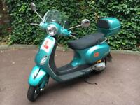 2013 turquoise Vespa scooter lx50 - 5000 miles + extras