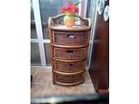 Bamboo And Wicker Storage Draws