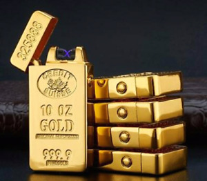 Pure Gold bar styled electric USB charge lighter.