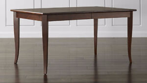 Crate & Barrel Cabria Honey Brown Extension Dining Table