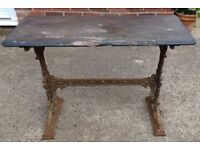 Victorian cast iron pub table.