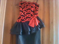 NEW designer strapless dress by Hoffman - very small size see ad for measurements