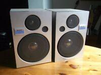 Pair Sharp bookshelf speakers