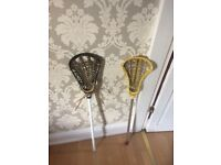 2 x Lacrosse Sticks
