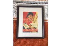 Vintage framed chesterfield advertisement