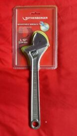 NEW - Rothenberger Adjustable Wrench Features Size 12in / 300mm.