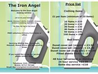 The Iron Angel ironing service