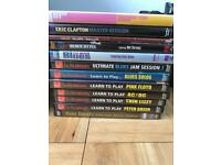 Collection of learn to play guitar DVDs