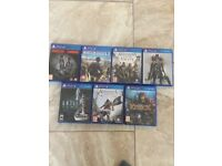 7 PlayStation games for sale