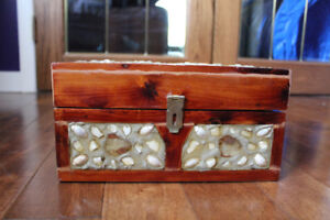 VIntage Handcrafted Wooden Lock Chest