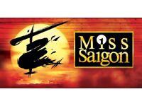 2 x Miss Saigon Tickets Saturday 28th October 2017 Bord Gais Energy Theatre Dublin