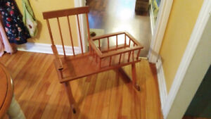 Kids Rocking Chair With Book Basket