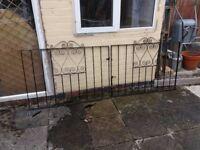 Domestic Metal Gates - pair driveway black