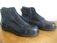 NEW GOLIATH LEATHER SAFETY BOOTS/SHOES - SIZE 9 - (Kirkby in Ashfield)