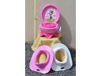 Toddler Mini Mouse Girls Musical Potty & 2 Toilet Seats