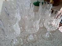 Set of six cut glass glasses perfect gift