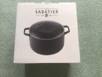 Maison Sabatier Black Round Casserole Dish