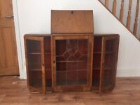 Display Cabinet and Bureau - sold as seen / collection only