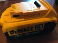 DeWalt battery 18v 4.0AH XR Li-ion