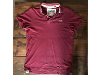SuperDry Dark Red polo shirt. Large.