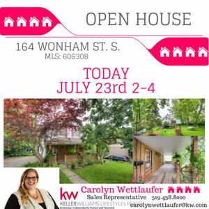 OPEN HOUSE TODAY JULY 23, 2-4 INGERSOLL