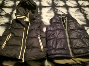 Boys puffy vests