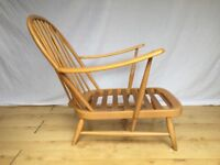 Vintage Ercol 203 easy lounge arm chair armchair