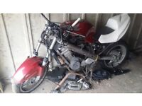 Honda Deauville for sale. For parts or unfinished street fighter project.