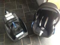Maxi cosi car seat & maxi cosi isofix base