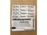 Alton Towers x 4 01/09/17 cheaper than 241