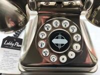 Vintage retro 1930s style silver phone