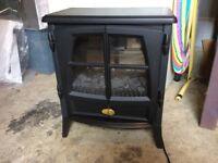 Dimplex flame effect, wood burner style
