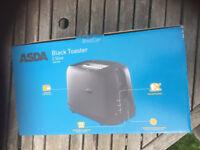 Asda Black toster new
